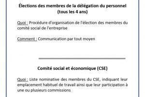 Affichage obligatoire - CSE et élection