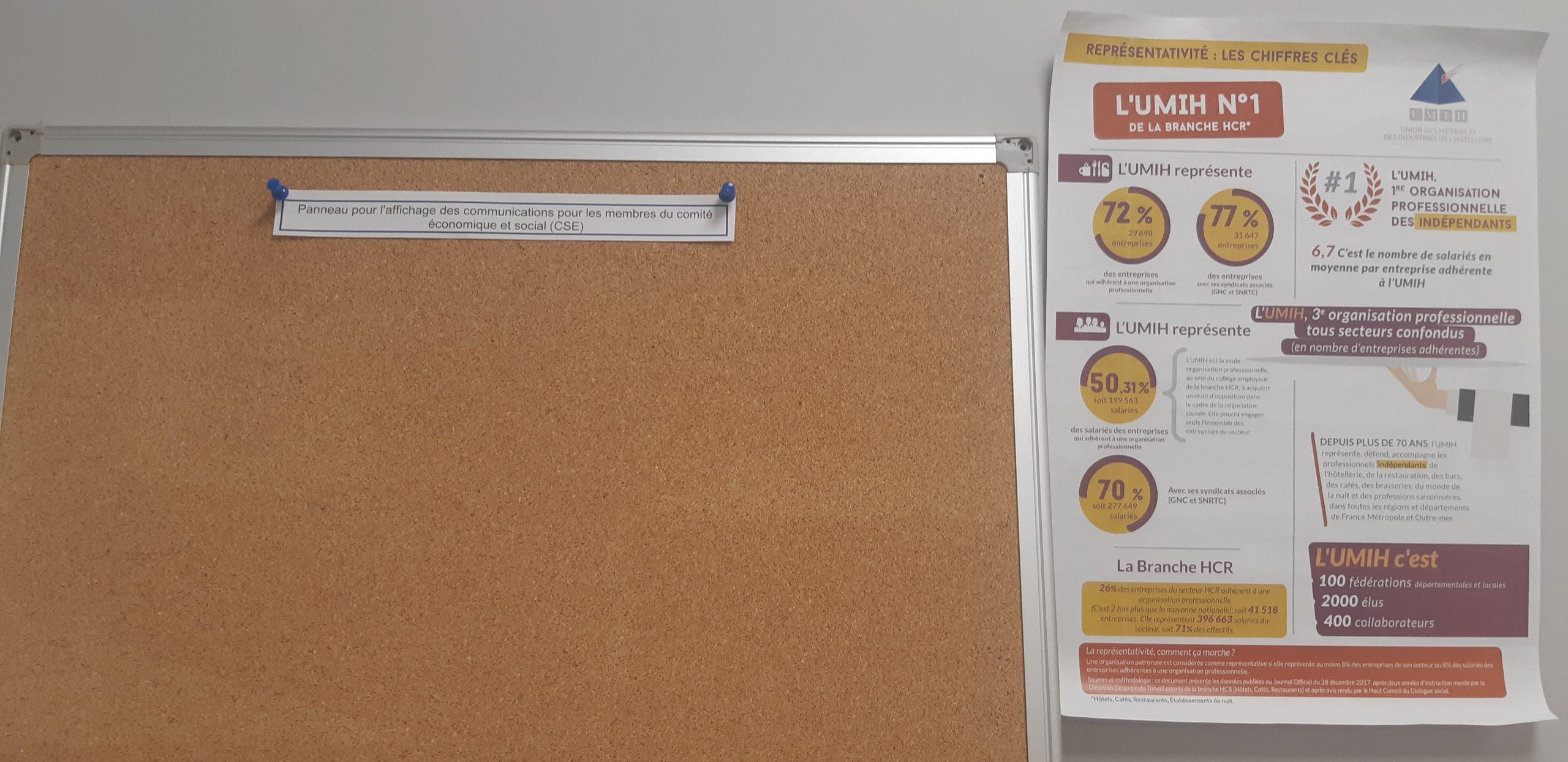 Panneau affichage CSE